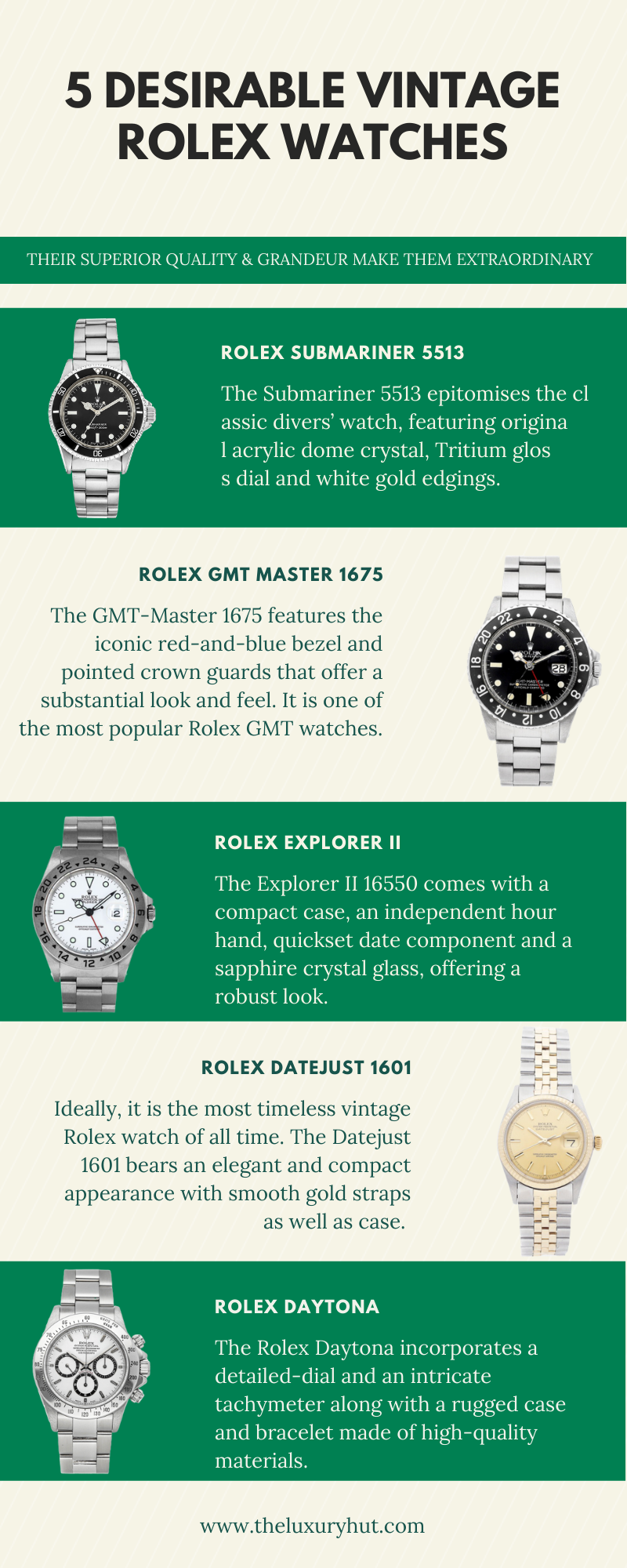 5 Desirable Vintage Rolex Watches